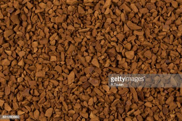 Heap of instant coffee close up