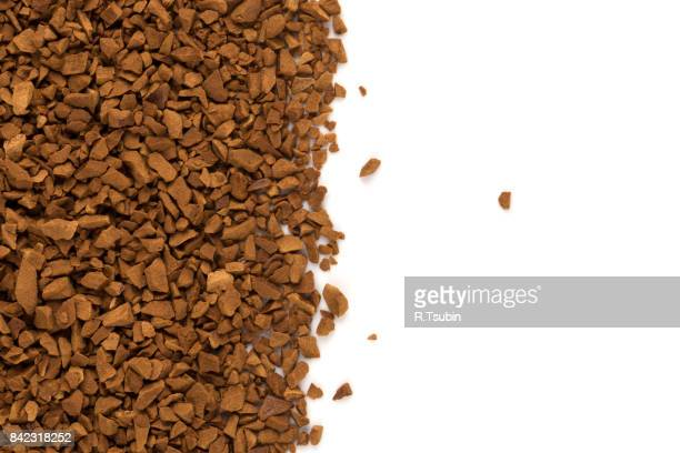 Heap of instant coffee