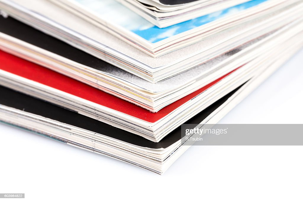 Heap of magazines : Stock Photo
