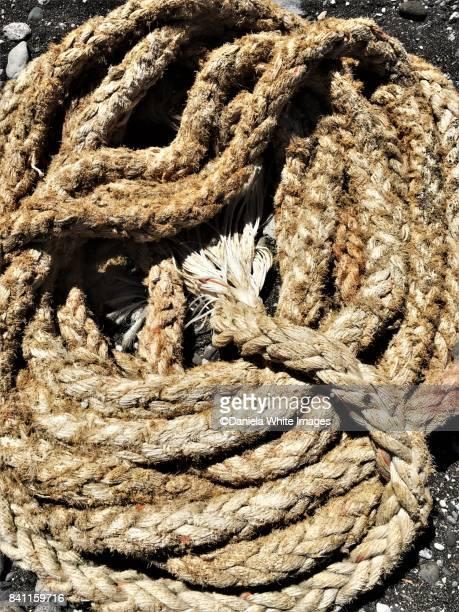 Heap of old ship ropes