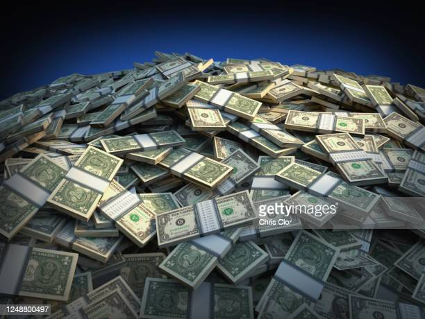 heap of one dollar banknotes - currency stock pictures, royalty-free photos & images