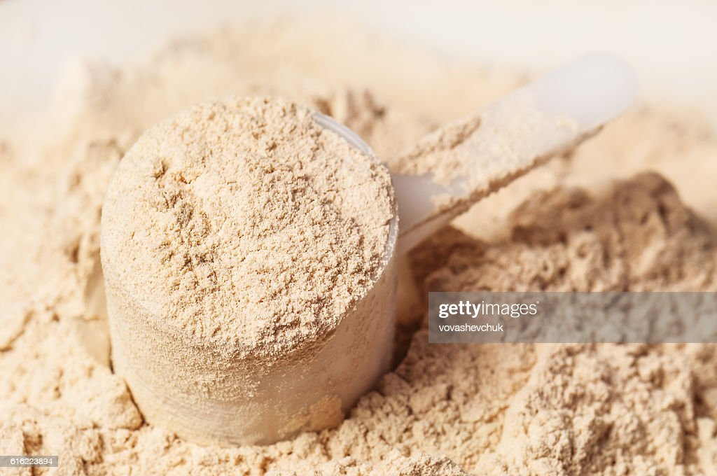 heap of protein powder : Stock-Foto