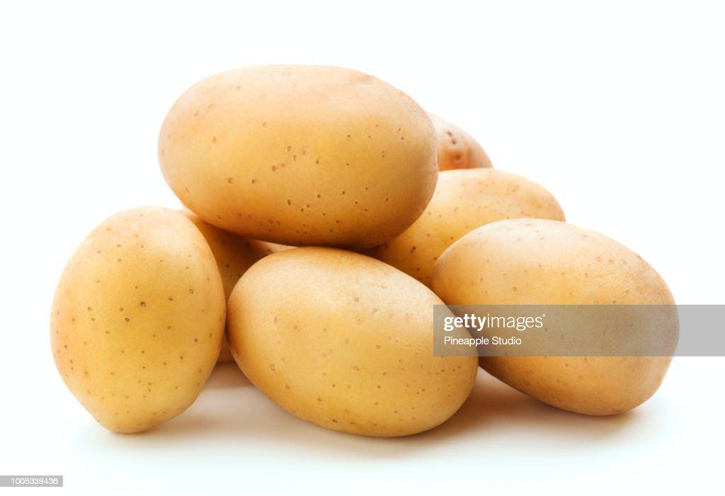 heap of raw potato : Stock Photo