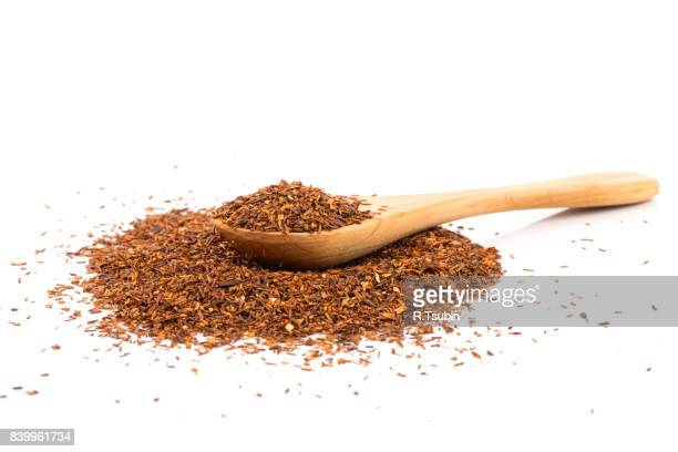Heap of red dry rooibos tea