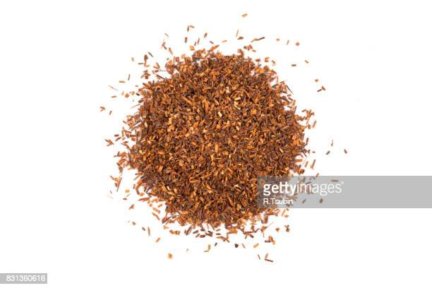 Heap of red dry rooibos white