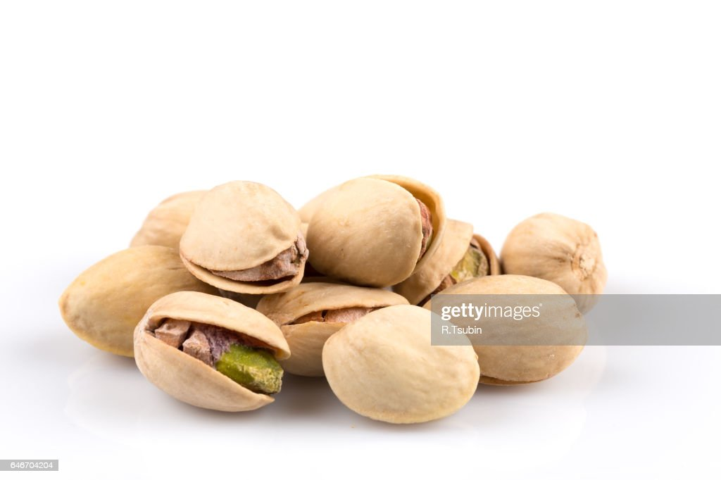Heap of salted pistachio nuts : Stock Photo