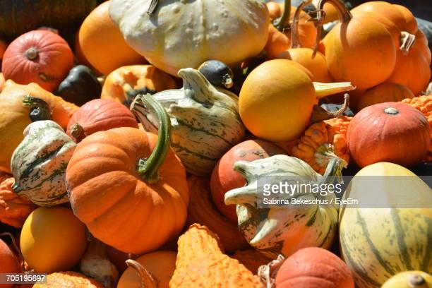 Heap Of Squashes For Sale At Market