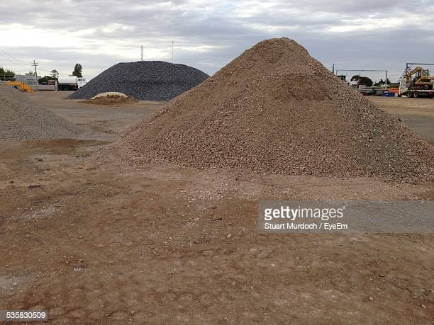 Heap Of Stones And Mud At Construction Site
