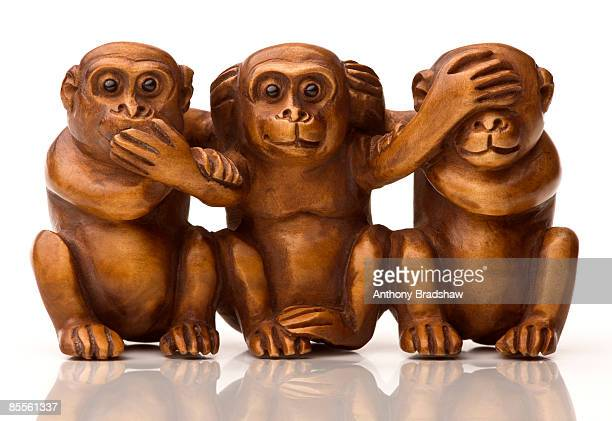 hear no evil see no evil speak no evil - see no evil hear no evil speak no evil stock pictures, royalty-free photos & images