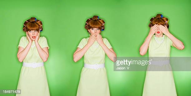 hear speak see no evil - see no evil hear no evil speak no evil stock pictures, royalty-free photos & images