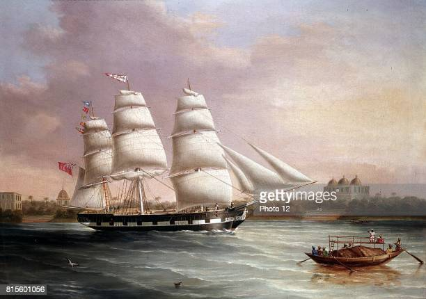 JC Heard British painter 'John Wood' Approaching Bombay Oil on canvas At this time the East India Company was still governing India