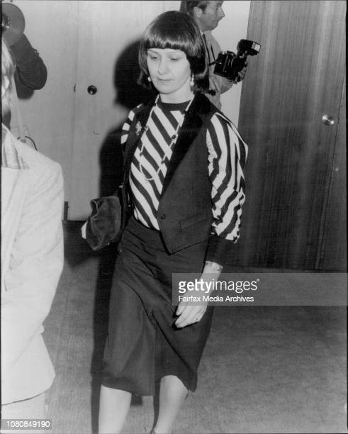Hearing at the equal opportunity tribunalMiss Sue O'Callaghan arrives August 30 1983