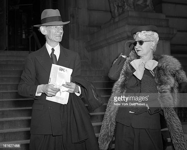 Hearing of Florence Jenkins Estate at Surrogate's Court. Edith Bobe Hague, widow of Bob Hague, Standard Oil bigshot, and St. Clair Bayfield,...
