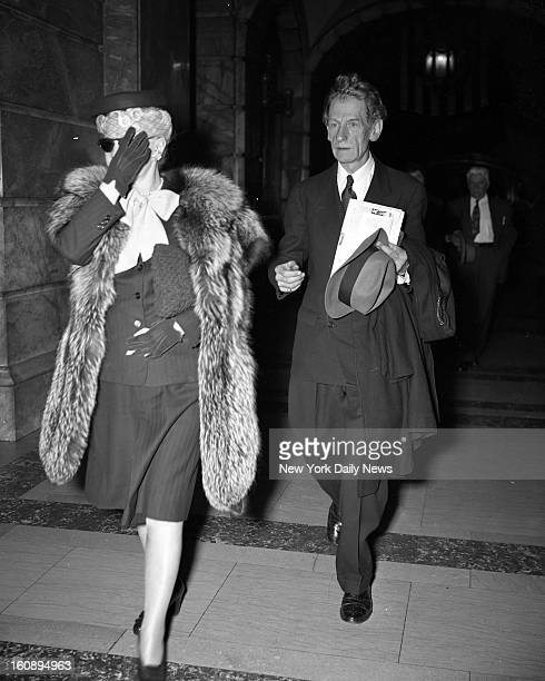 Hearing of Florence Jenkins' Estate - Surrogate's Court. St. Clair Bayfield, Shakespearean Actor, who claims to be common law husband of Florence...