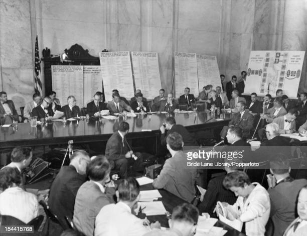 A hearing of the United States Senate Select Committee on Improper Activities in Labor and Management Washington DC 20th August 1957 The committee is...