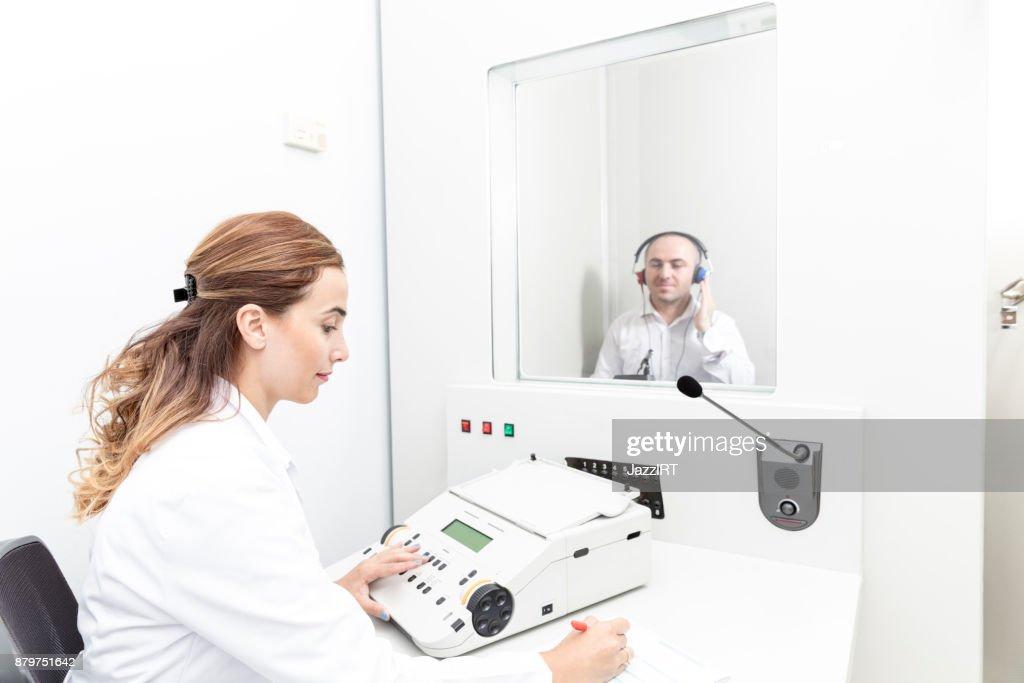 Hearing Test : Stock Photo