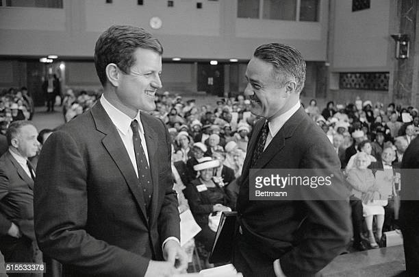 Hearings on Aged Open Washington Sargent Shriver director of the Office of Economic opportunity was the leadoff witness as a special Senate Committee...