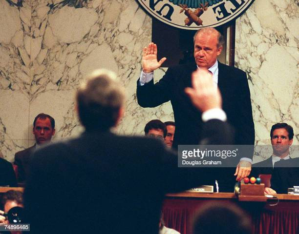 HEARINGSChairman Fred Thompson RTennswears in Samuel R Berger Assistant to the President for National Security Affairs before the Senate Governmental...