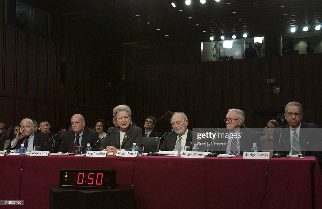 HEARINGS--Testifying at the Senate Judiciary hearing on behalf of Judge Samual A. Alito Jr., to be an associate justice of the U.S. Supreme Court: U.S. Court of Appeals Judge Edward R. Becker; Chief Judge of the U.S. Court of Appeals for the Third Circuit Anthony J. Scirica; U.S. Court of Appeals Judge Maryanne Trump Barry; U.S. Court of Appeals Judge Ruggero J. Aldisert; retired U.S. Court of Appeals Judge John J. Gibbons; and retired U.S. Court of Appeals Judge Timothy K. Lewis.