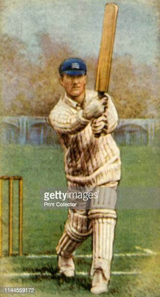 """Hearne ', 1928. From """"Wills's Cigarettes - A Series of 50 Cricketers, 1928"""", [W. D. & H. O. Wills, London, 1928]. Artist Unknown."""