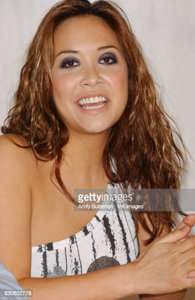 Hear'Say member Myleene Klass during a photocall at Brixton Rehearsal Studios south London where final auditions were held to replace Kym Marsh
