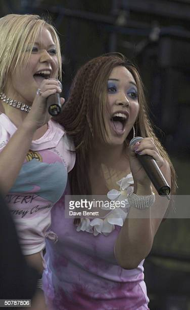 Hearsay perform live at Party In The Park 2001 at Hyde Park on July 8 2001 in London