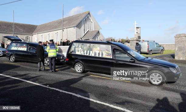 A hearse following the funeral of The Cranberries singer Dolores O'Riordan at Saint Ailbe's Church Ballybricken