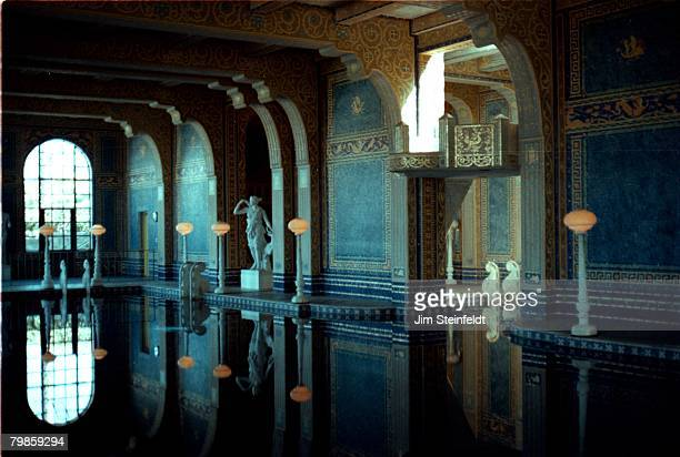 Hearst Castle's indoor pool with afternoon light in San Simeon California in June 1981