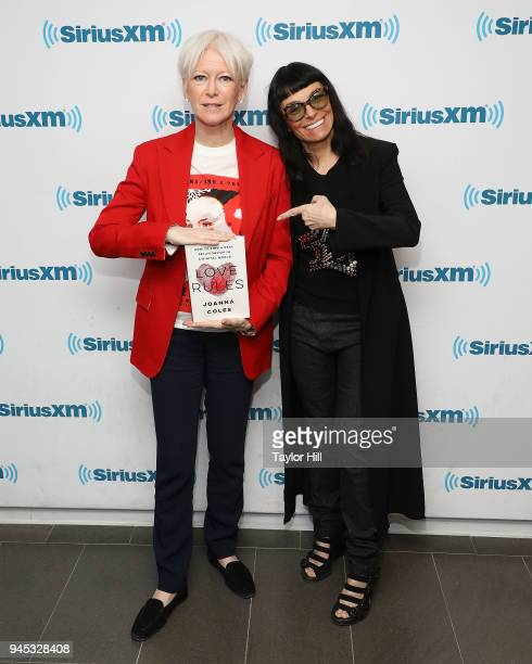 Hearst Chief Content Officer Joanna Coles and designer Norma Kamali at SiriusXM Studios on April 12 2018 in New York City