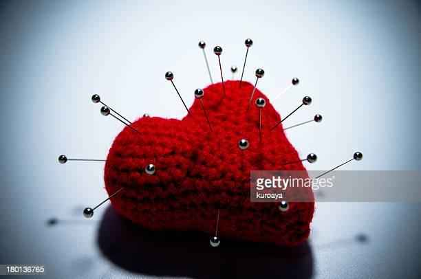 Heart and needles