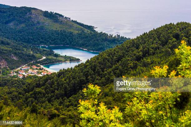 heart bay - thessaly stock pictures, royalty-free photos & images