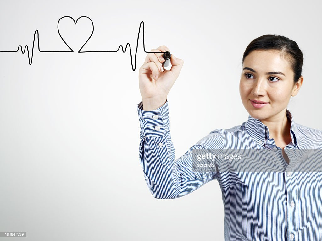 Heart Beat Graph : Stock Photo