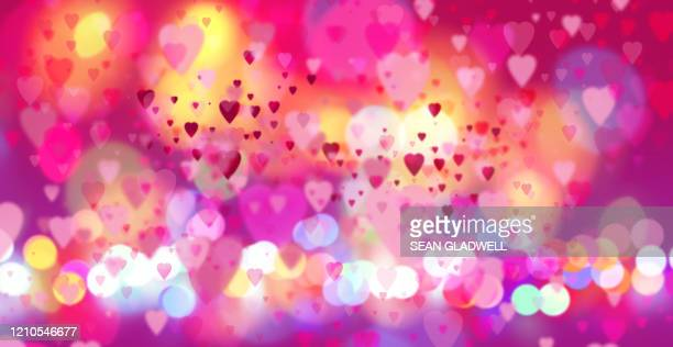 heart blur - backgrounds stock pictures, royalty-free photos & images