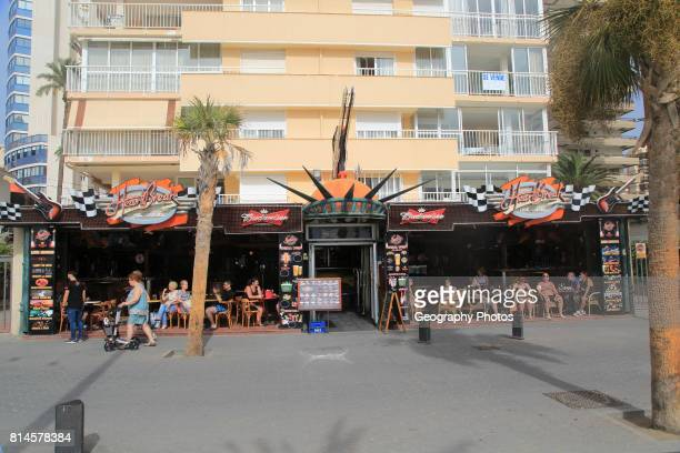 Heart Break pub cafe Levante beach Benidorm Alicante province Spain