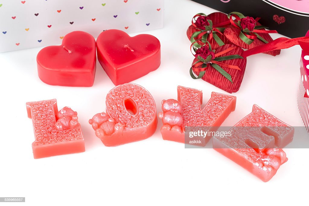 heart, candle and love : Stock Photo