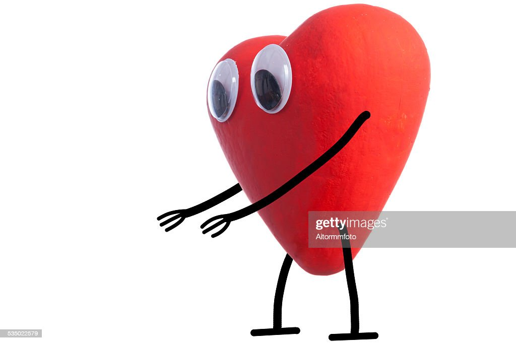 Heart Character Waiting A Hug Stock Photo Getty Images