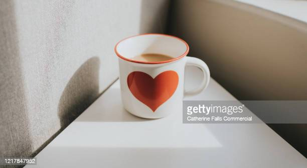 heart coffee cup - hot wives photos stock pictures, royalty-free photos & images