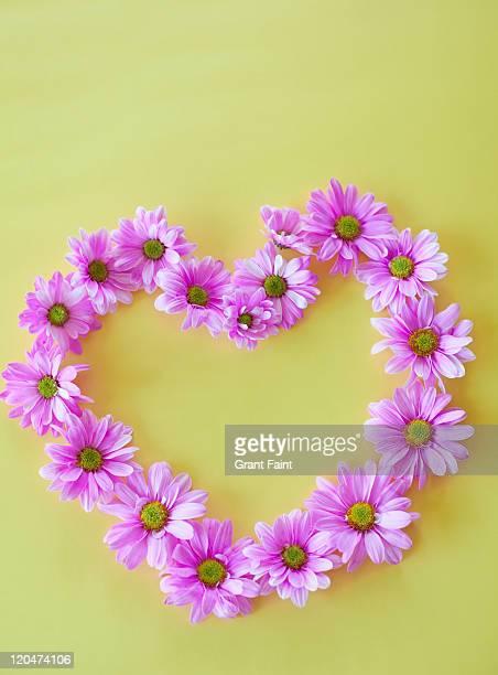 Heart design of flowers.