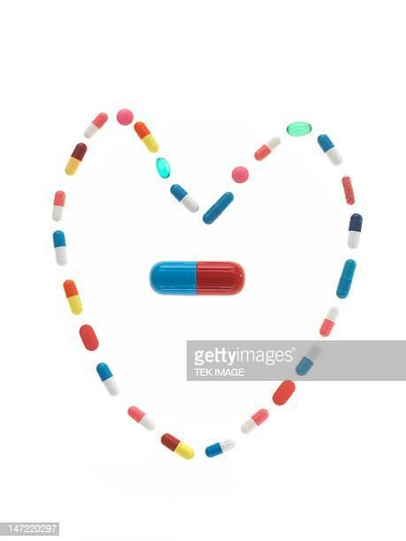 Heart drugs, conceptual image