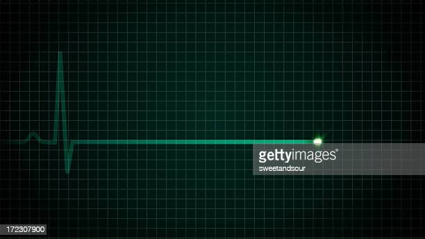 heart flatline ekg - in a row stock pictures, royalty-free photos & images