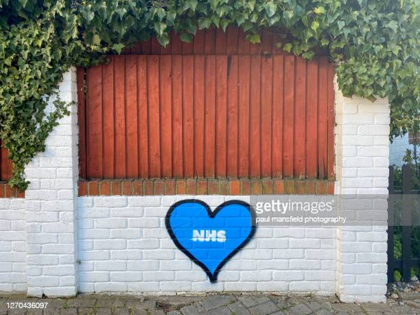 "nhs heart graffiti - ""paul mansfield photography"" stock pictures, royalty-free photos & images"