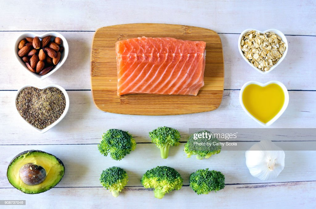 Heart healthy foods : Stock Photo