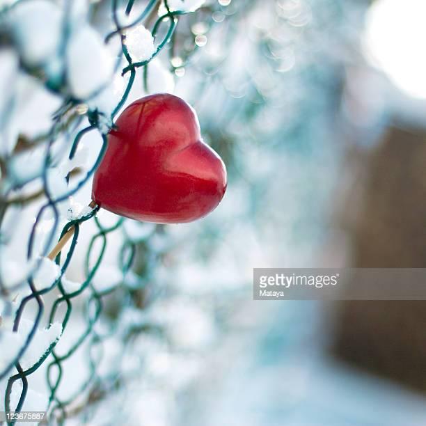 Heart in fence