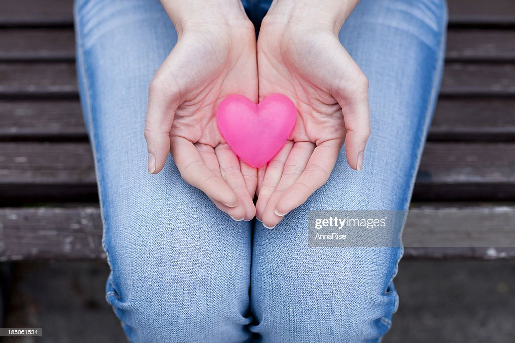 Heart In Hands : Stock Photo