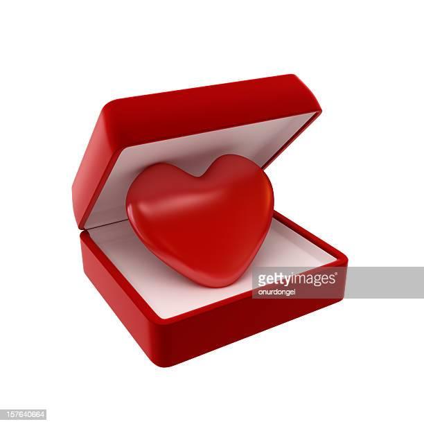 coração em destaque - caixa de joias - fotografias e filmes do acervo