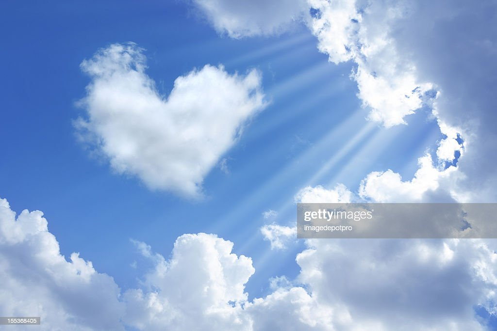 heart in sky : Stock Photo
