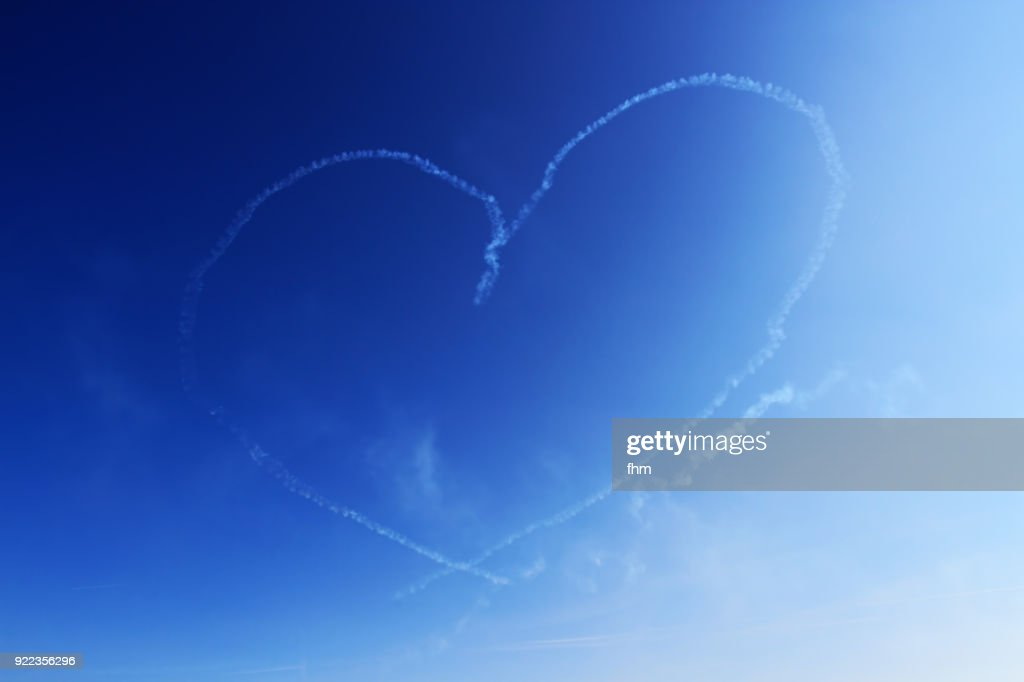 A heart in the sky : Stock Photo