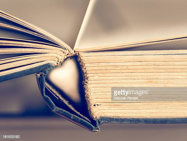 Heart in the sleeve of a book