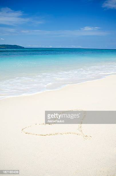 Heart in the White Sand