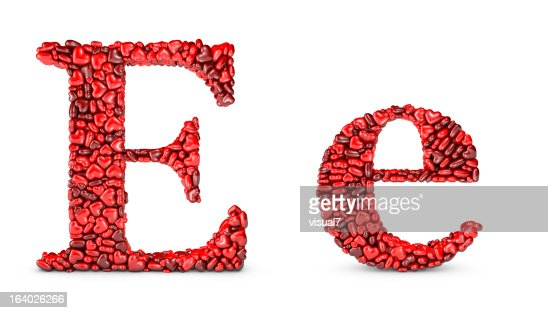Heart Letter E Stock Photo | Getty Images